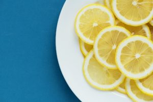 Lemon Slices On A Plate