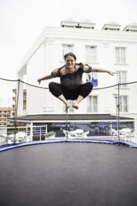 pelvic floor jumping on trampoline